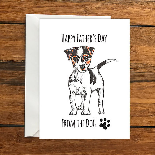 Happy Birthday From the Dog! Jack Russell, Terrier greeting card A6