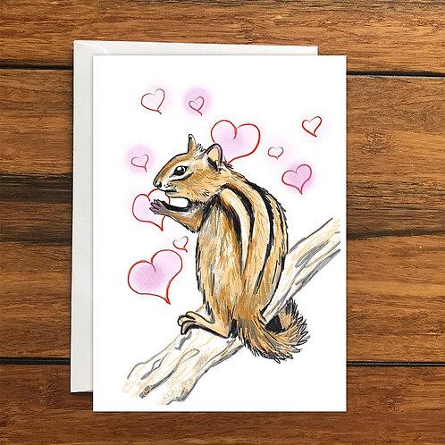 Chipmunk Greeting Card A6