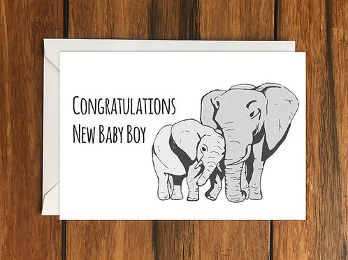 Congratulations New Baby Boy greeting card A6
