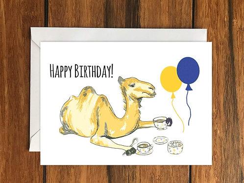 Happy Birthday Camel Greeting Card A6