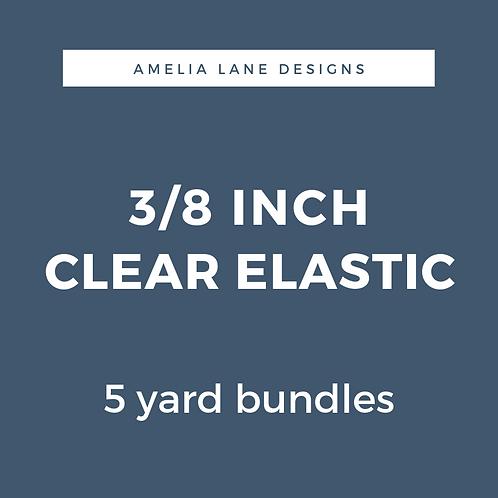 "3/8"" Clear Elastic"