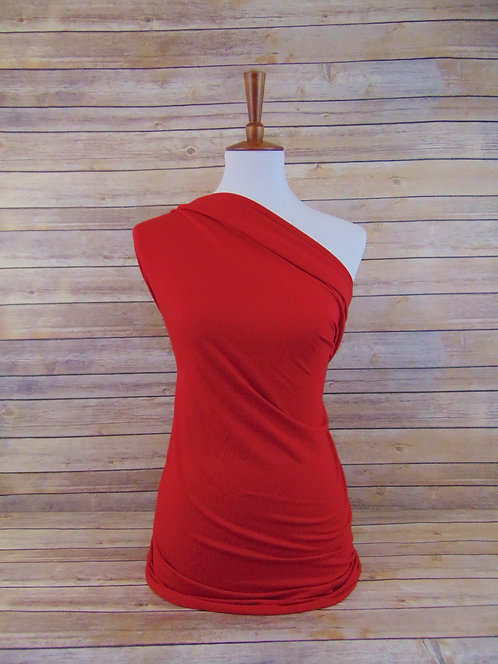 Red - Rayon Spandex - Solids