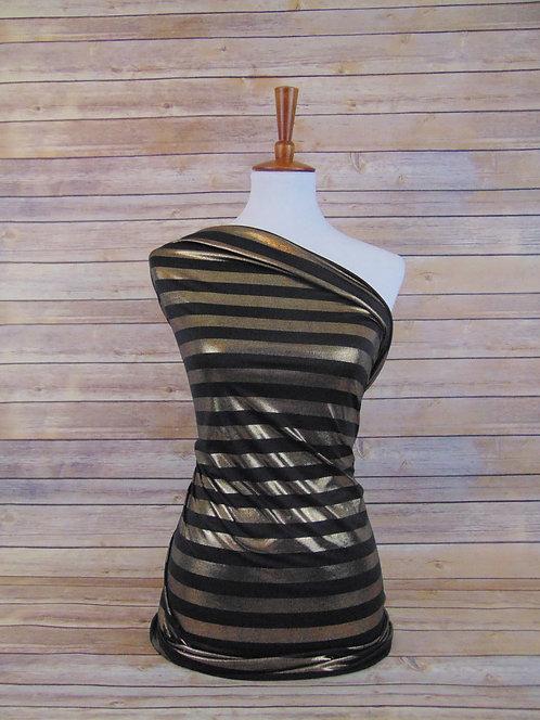 Metallic Stripe - Black