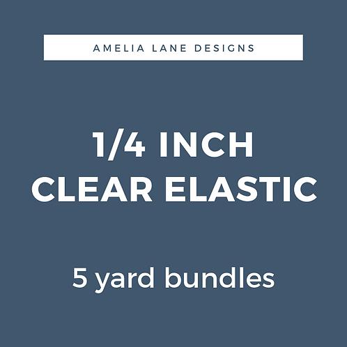 "1/4"" Clear Elastic"