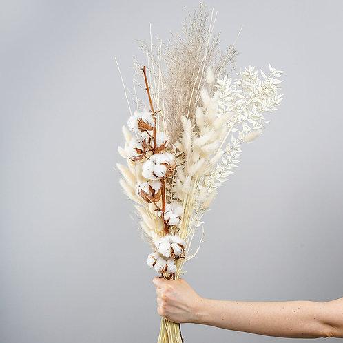 """Trockenblumenstrauss """"Weiße Baumwolle"""""""