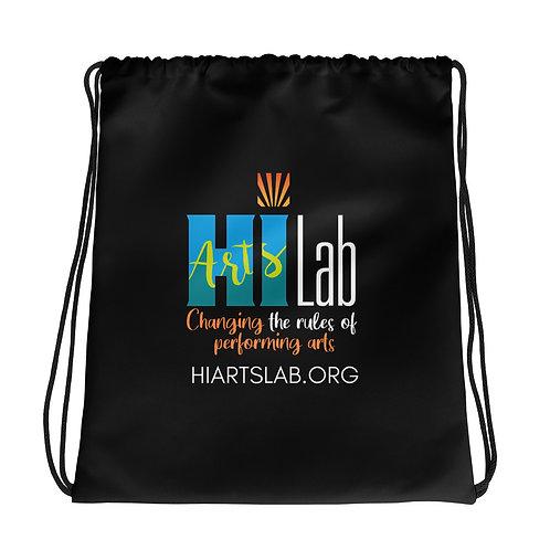 HI Arts Lab Black Drawstring bag