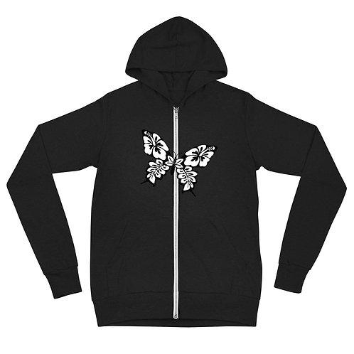 Butterfly Unisex zip hoodie