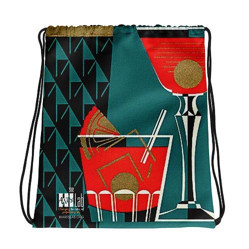 Art Deco Drawstring bag