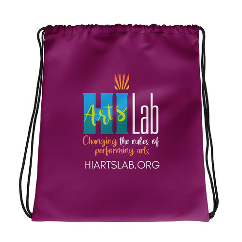 HI Arts Lab Maroon Drawstring bag