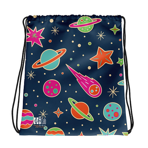 Space Drawstring bag