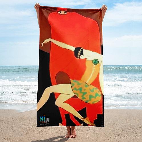 Dramatic Dancers Beach Towel