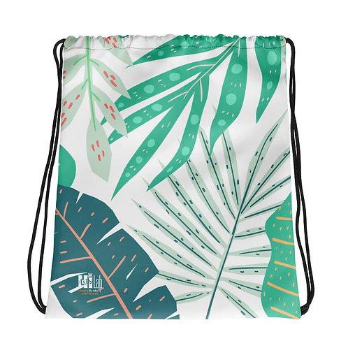 Foliage Drawstring bag