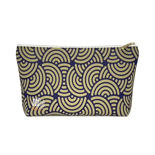Art Deco Accessory Pouch w T-bottom
