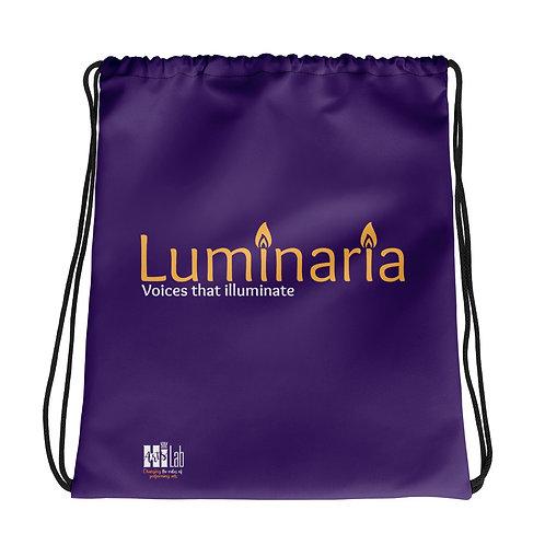 Luminaria Purple Drawstring bag