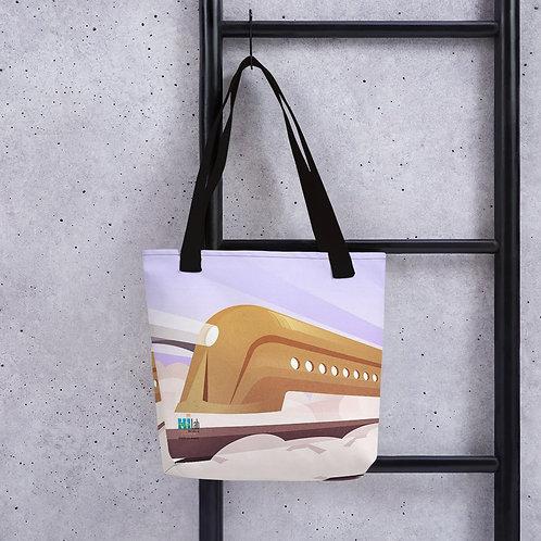 Art Deco Train Tote bag