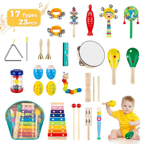 Rhythm Instruments for First Steps in Music
