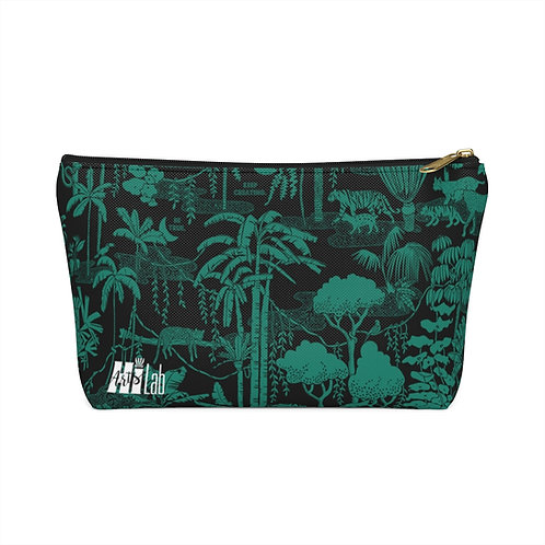 Tropical Forest Accessory Pouch w T-bottom