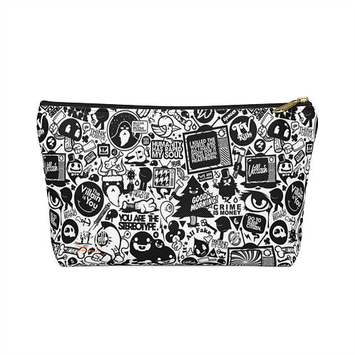 Love/Hate Accessory Pouch w T-bottom