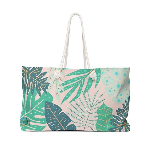 Pink Tropical Weekender Bag