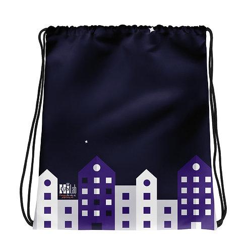 City Night Drawstring bag