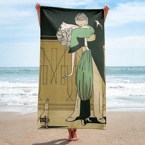 Romantic Couple  Beach Towel