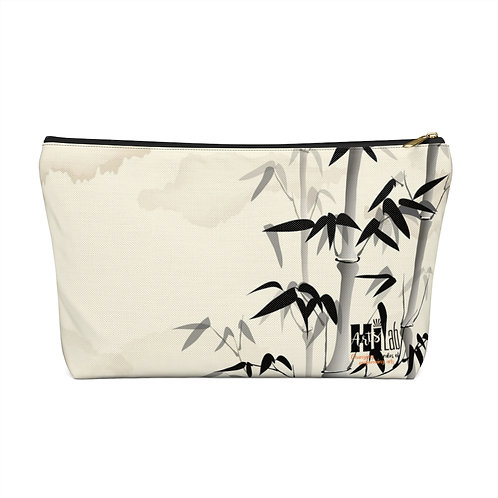 Bamboo Accessory Pouch w T-bottom