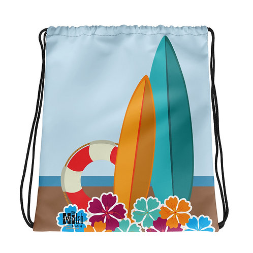 Surfboard Drawstring bag