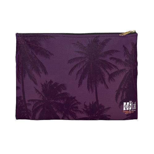 Purple Palms Accessory Pouch