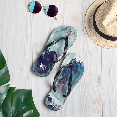Japanese Watercolor Slippers