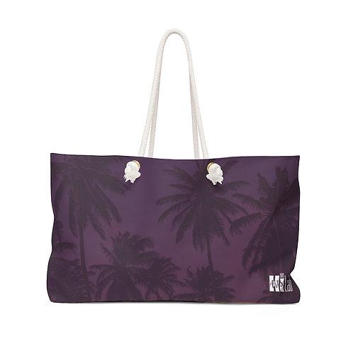 Purple Palm Weekender Bag