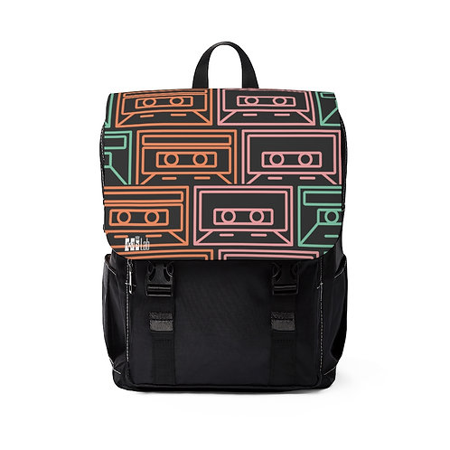 Cassette Tape Top Flap Backpack