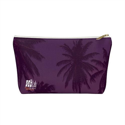 Purple Palms Accessory Pouch w T-bottom