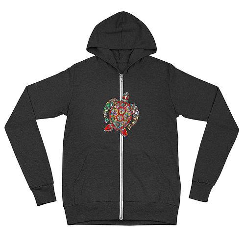 Honu Unisex zip hoodie
