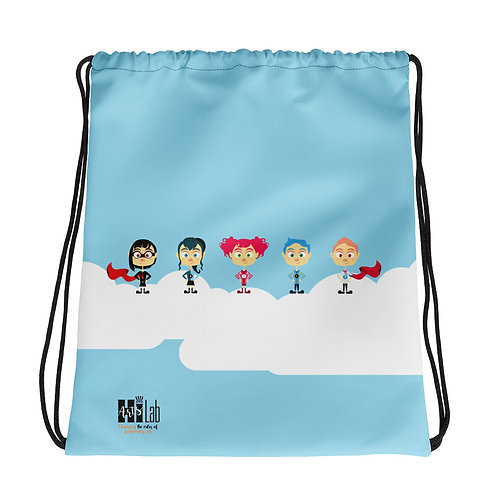 Superhero Drawstring bag