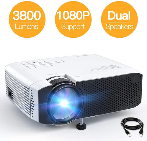 Projector, APEMAN Mini Portable 3500L Video Projector LED with Dual Speakers 45