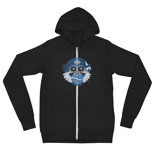 Monkey Unisex zip hoodie