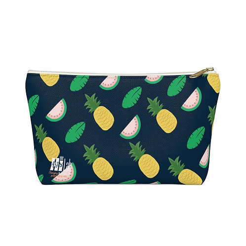 Pineapple Accessory Pouch w T-bottom
