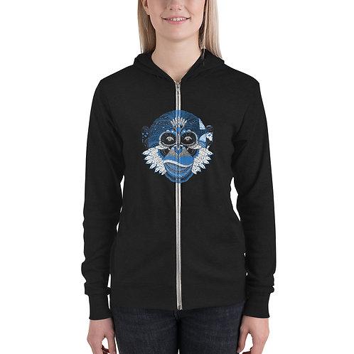 DELETE Monkey Unisex zip hoodie