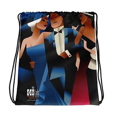 Art Deco Trio Drawstring bag