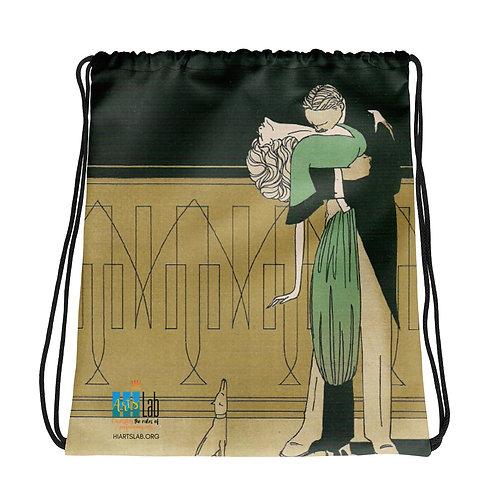 Romantic Couple Drawstring bag