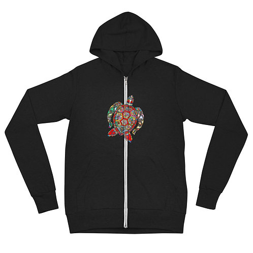 DELETE Unisex zip hoodie