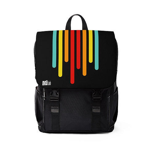 Color of Lines Top Flap Backpack