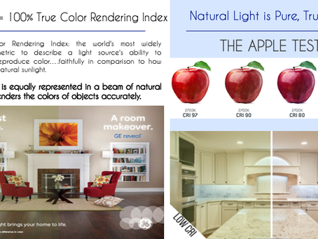 Functional Color:  Does your lighting pass the apple test of 90+ CRI?  It Should.