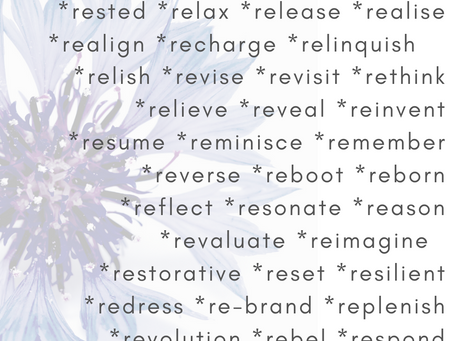 What are your RE words?