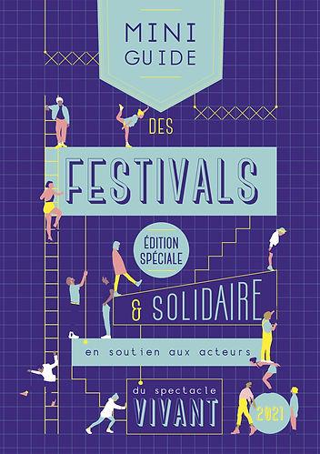 miniguide des festivals 2021 couverture par Jenny Calinon Rouge poisson