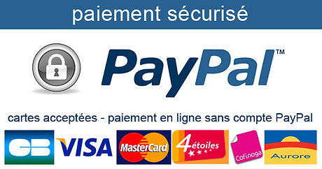 La boutique en ligne d'Odeva propose des paiements par CB, sécurisés via Paypal. Possibilité de payer par carte bancaire sans création de compte, Visa, MasterCard etc