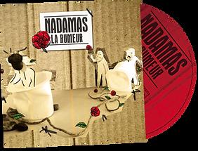 Album CD La Rumeur écrit et composé par Nadamas, groupe français de chanson populaire et festive. Pochette cover du digipack