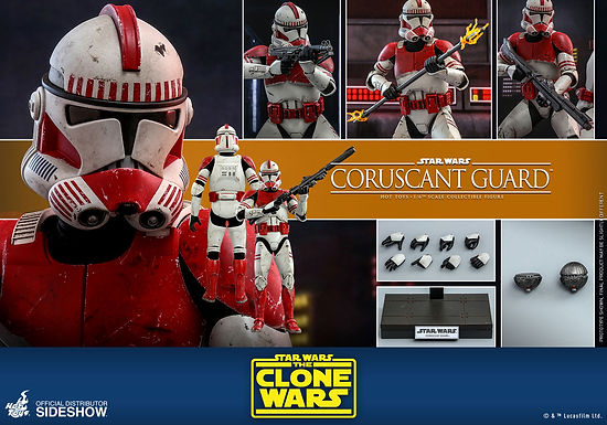 Hot Toys 1.6 Star Wars The Clone Wars Coruscant Guard