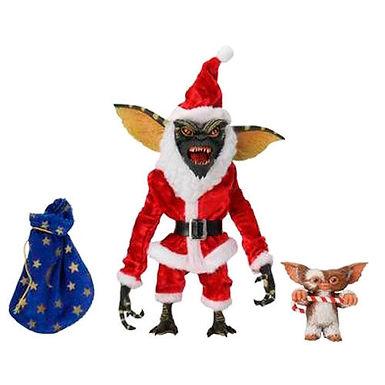 Gremlins Santa Stripe and Gizmo pack 2 figures 18cm