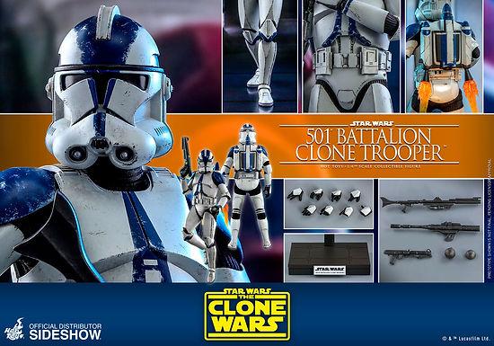 Hot Toys 1.6 Star Wars The Clone Wars 501st Clone Trooper